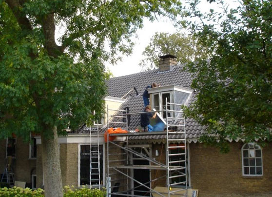 Restauratie en renovatie bij monumentale woonboerderij in Delft.  Opdrachtgever:Eigenaar in Delft Architect:R.A.M. van Bakel Bouwperiode:Van juli tot oktober 2011 Bouwsysteem:Traditioneel … Lees verder…